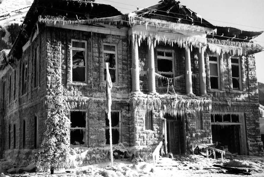 1992 Fire Aftermath -It Looks Like An Ice Palace