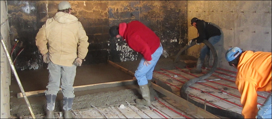 4th & Final Concrete Pour ~ Radiant In Floor Heating In Basement